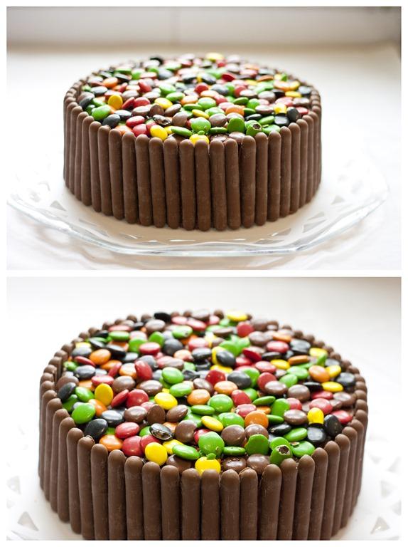 tårta med chokladfingrar