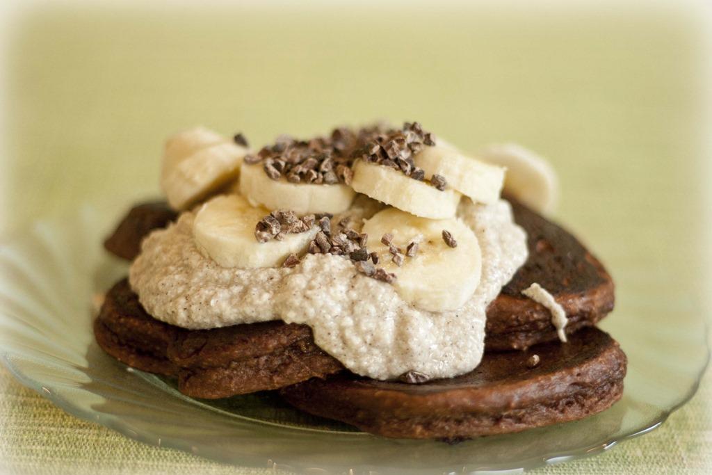 Proteinpannkakor med banan- och chokladsmak